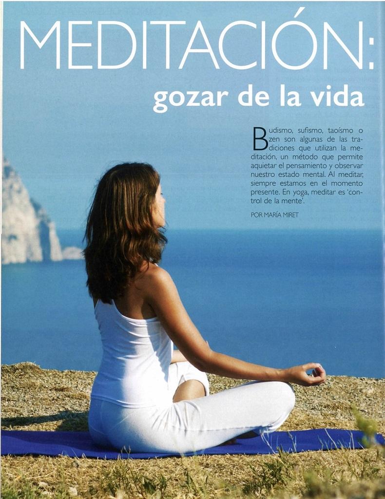 Meditación: gozar de la vida